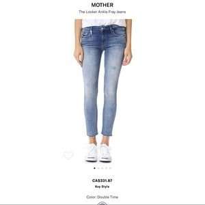 MOTHER The Looker Ankle Fray Jeans (Double Time)